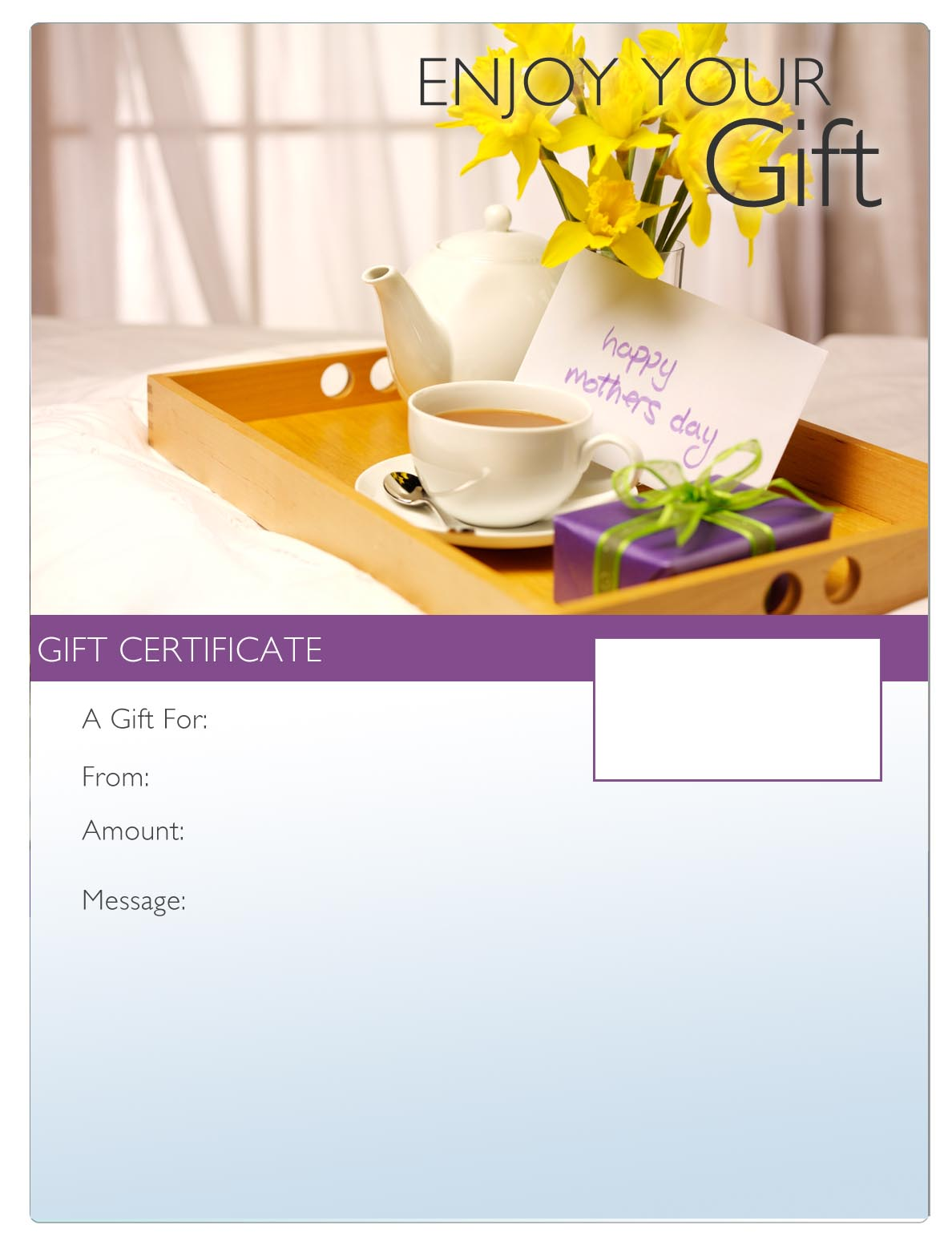 Template Spa Day Gift Certificate Template Art Business Gift