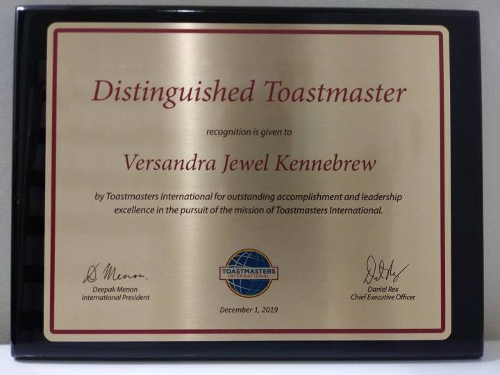Distinguished Toastmaster Award